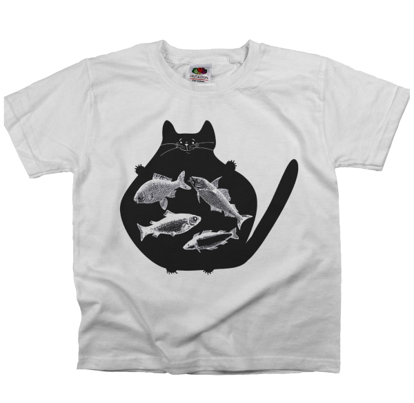 Catfish - Katze Rundhals Kinder T-Shirt