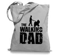 The Walking Dad Papa Vater Tragetasche / Bag / Jutebeutel...