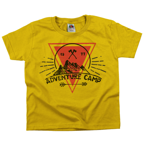 Adventure Camp - Abenteuer  Rundhals Kinder T-Shirt