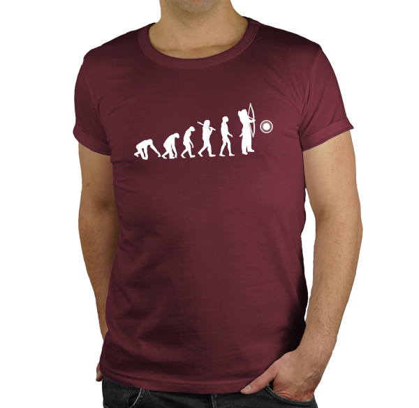 Bogenschiessen Regular Rundhals Evolution  Herren T-Shirt