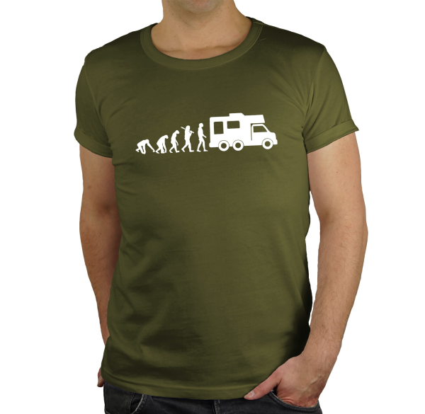 Camper Wohnwagen Regular Rundhals Evolution  Herren T-Shirt BC150